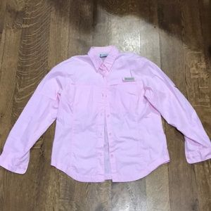 Columbia light pink button up